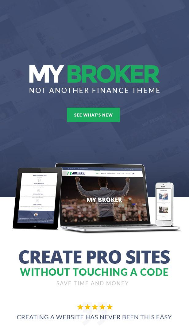 My Broker - Consulting Business and Finance WordPress Theme - 1